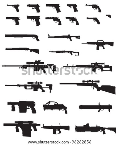 big weapons  pack - stock vector