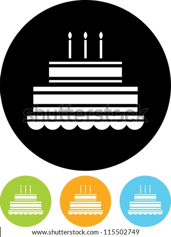 Birthday Cake Icon Stock Photos, Illustrations, and Vector Art