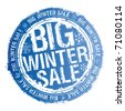 Big winter sale rubber stamp. - stock vector