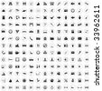 Biggest collection of 170  different icons for using in web design - stock vector