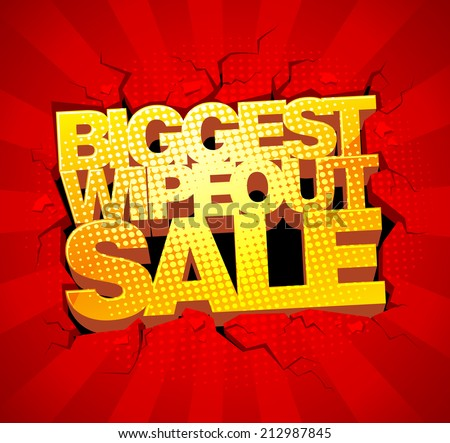 Biggest wipeout sale design. - stock vector