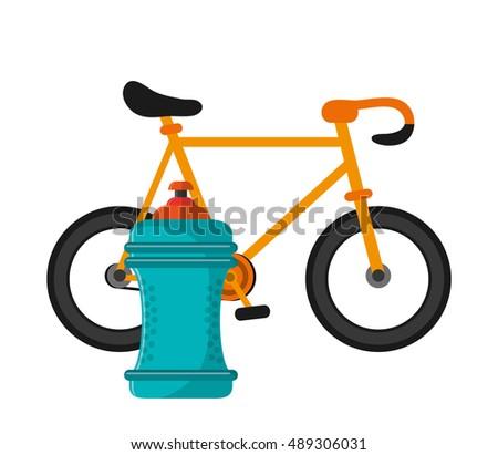 bike and  sports bottle icon