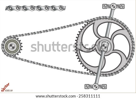 Bike Chain  - stock vector