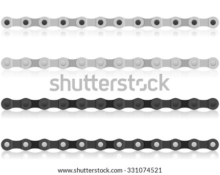 Bike chain on a white background. - stock vector