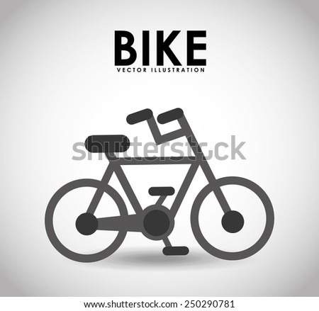 bike icon design, vector illustration eps10 graphic