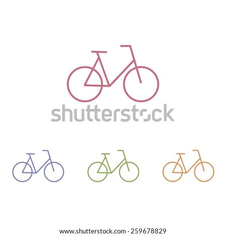 Bike icons - stock vector