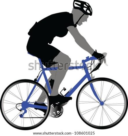 bike racer  - vector - stock vector