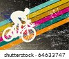 bike rider on the background - stock vector