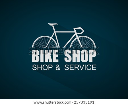 Bike Shop logo template,vector - stock vector