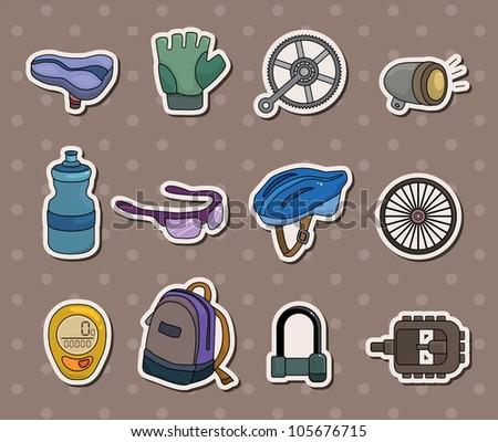 bike tool stickers - stock vector