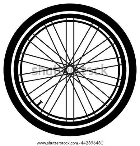 Bike wheel. Bike wheel vector. Bike wheel on a white background. Vector art.