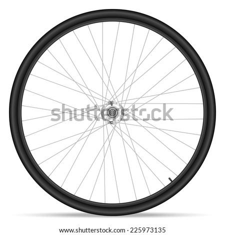 Bike wheel on white background. - stock vector