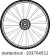 bike wheel - tire and spokes - vector illustration isolated on white background - stock vector