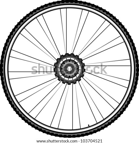 bike wheel - tire and spokes - vector illustration isolated on white background. bike wheel Icon. bicycle wheel Icon Vector. bike wheel Icon logo. bike wheel Icon Sign. bicycle wheel Icon Flat