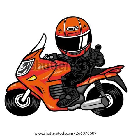 Biker Like a motorcycle - stock vector