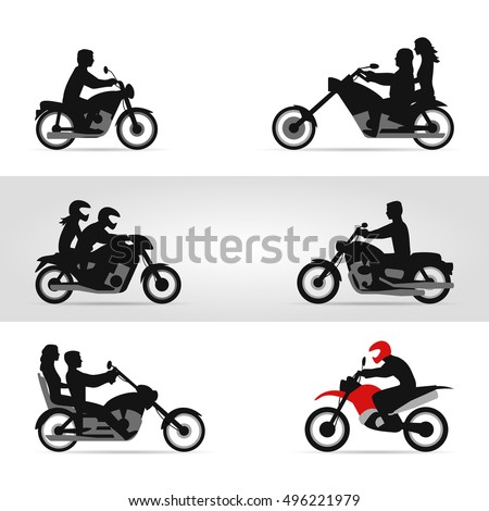 Bikers on motorcycles