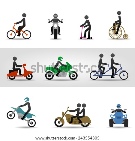 Bikes and motorcycles. Eps10 - stock vector