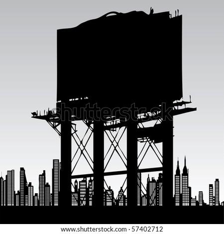 billboard - stock vector