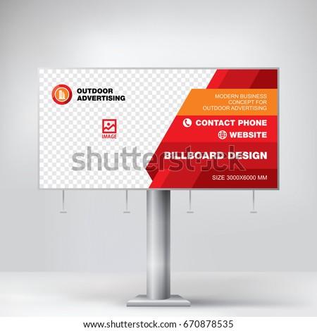 Billboard design stock images royalty free images - Text banner design ...