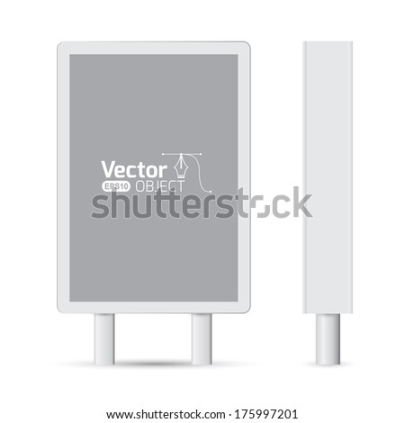 Billboard. Blank Billboard for Copy Space.  - stock vector