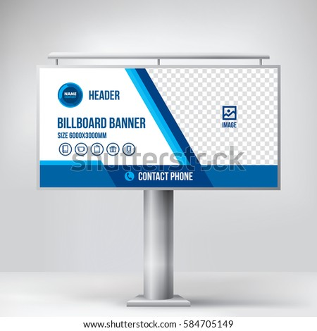 Billboard Design Universal Template Placement Advertising Stock ...