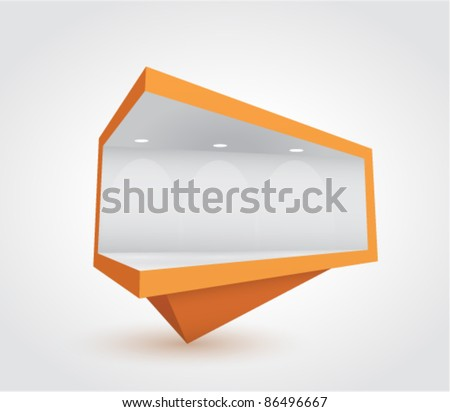 billboard icon (event pin) - stock vector