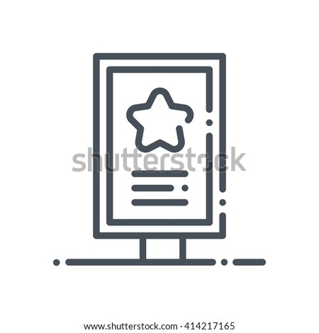 Billboard icon suitable for info graphics, websites and print media and  interfaces. Hand drawn style, pixel perfect line vector icon. - stock vector