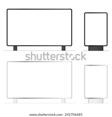 billboard mockup outdoor - stock vector