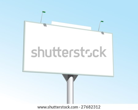 Billboard on peacful background - stock vector