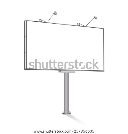 billboard on white - stock vector