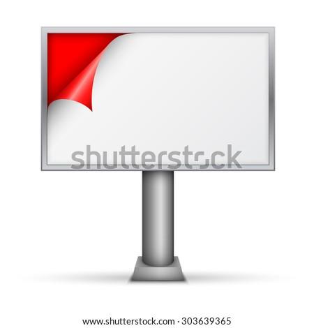billboard on white - stock vector