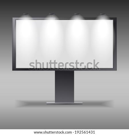 billboard outdoors vector display grey - stock vector