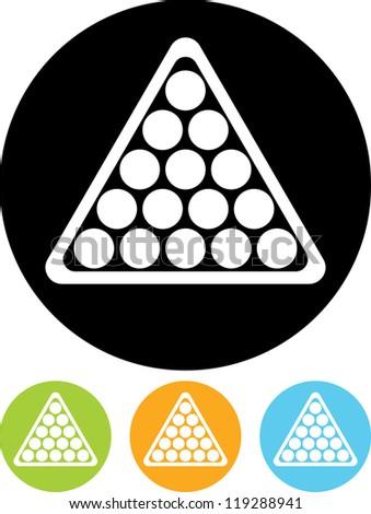 Billiard balls triangle - Vector icon isolated - stock vector