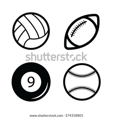 Billiard, Baseball, Volleyball, american football