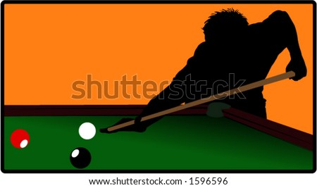 billiards player - stock vector