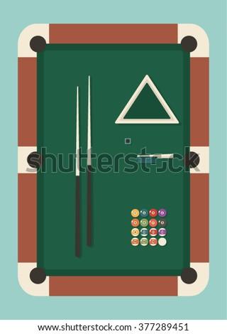 billiards pool snooker icon set - stock vector