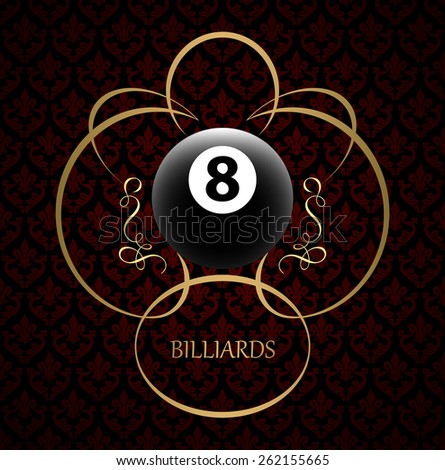 Billiards symbol vector sign - stock vector