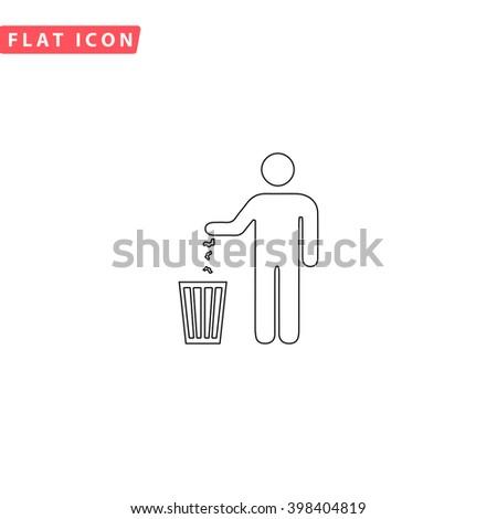 Bin Icon.  - stock vector