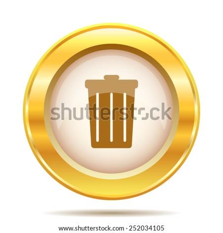 Bin icon. Internet button on white background. EPS10 vector.  - stock vector