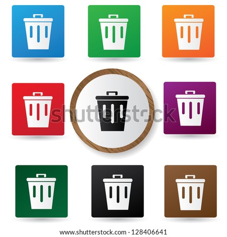Bin sign,vector - stock vector