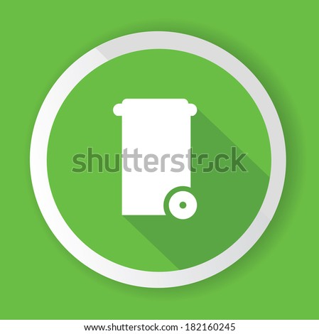 Bin symbol,Green version,vector - stock vector
