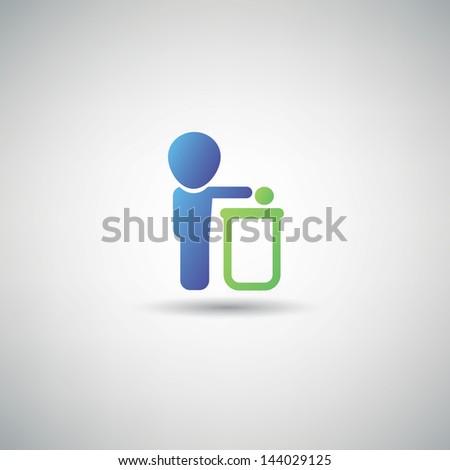 Bin symbol,vector - stock vector
