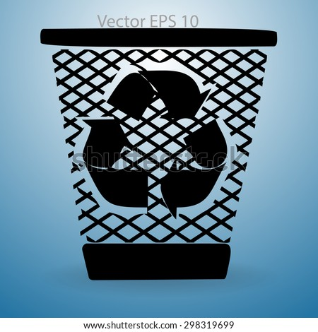 Bin vector icon - stock vector
