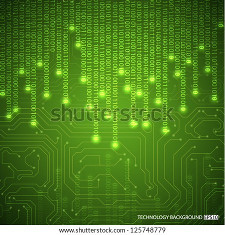 Binary background. EPS10 vector - stock vector