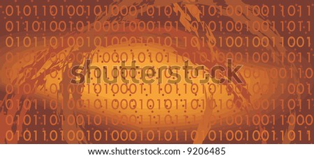 binary code background. Vector