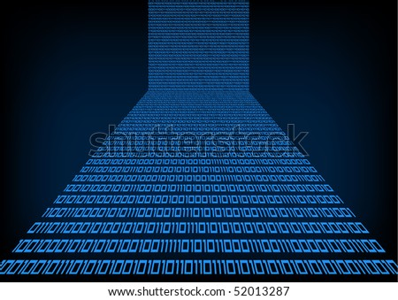Binary code. Vector background. - stock vector