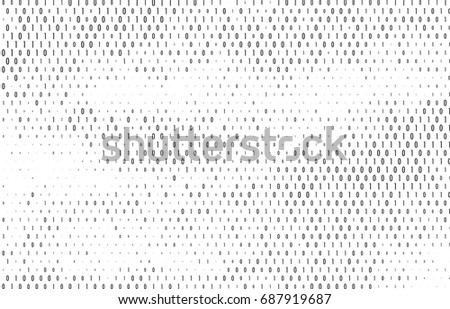 Binary Code Vector Background Coding Programming Or Hacking Concept Computer Science Illustration With