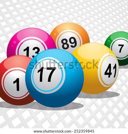 Bingo Balls on a White 3D Background