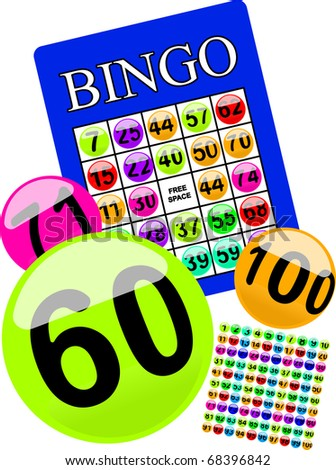 bingo card (with 100 numbered balls that can be turned into brushes by simply dragging them into your brushes window)