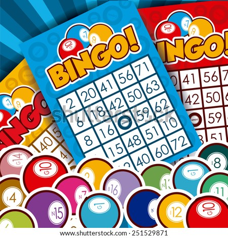 Bingo design over whiteb background, vector illustration. - stock vector